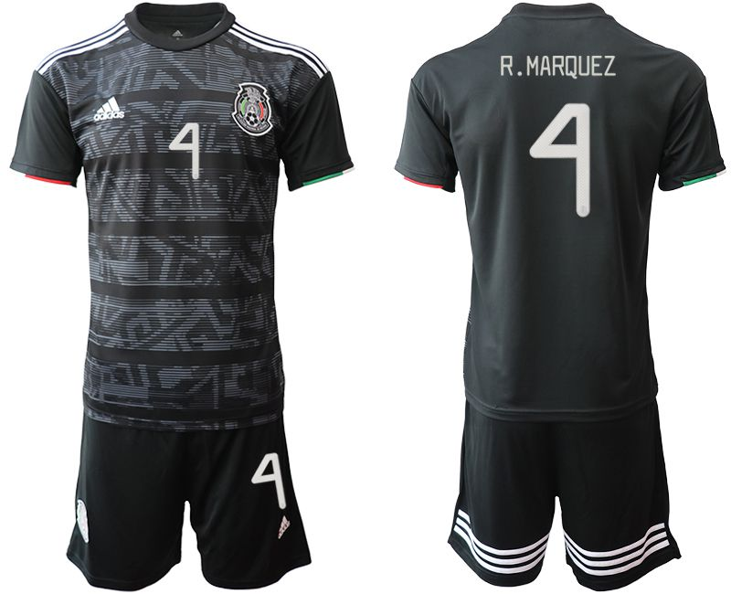 Men 2019-2020 Season National Team Mexico home 4 black Soccer Jerseys