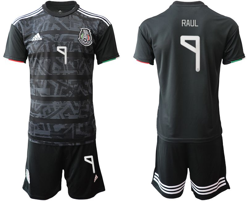 Men 2019-2020 Season National Team Mexico home 9 black Soccer Jerseys