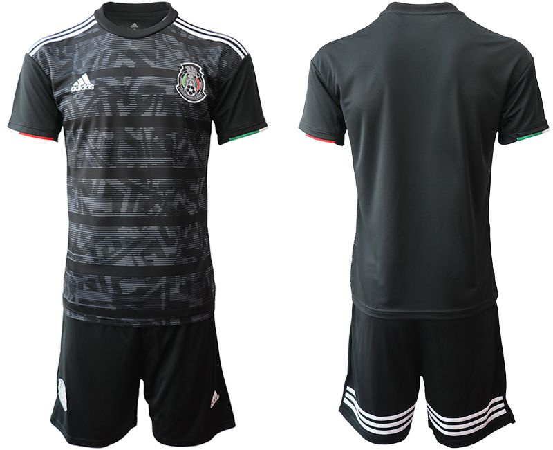 Men 2019-2020 Season National Team Mexico home black Soccer Jerseys