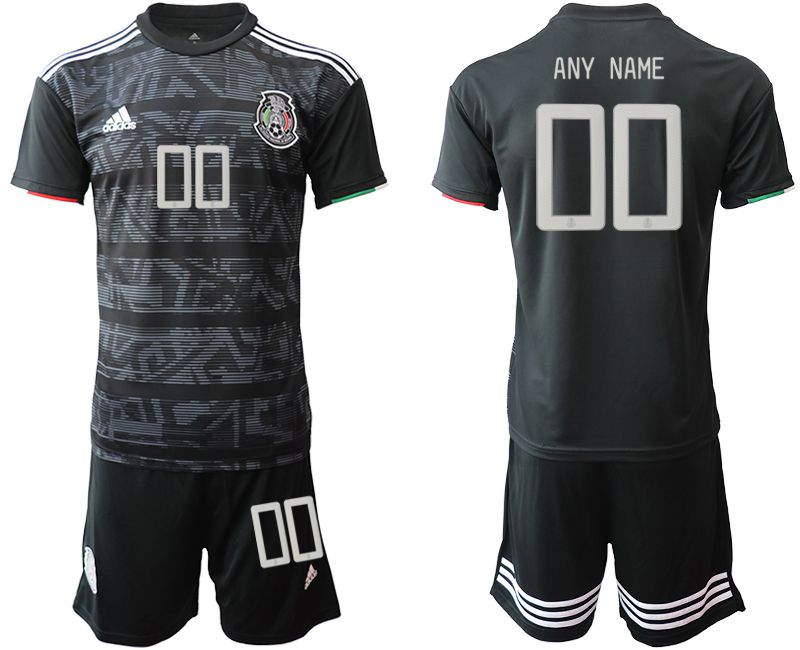 Men 2019-2020 Season National Team Mexico home customized black Soccer Jerseys
