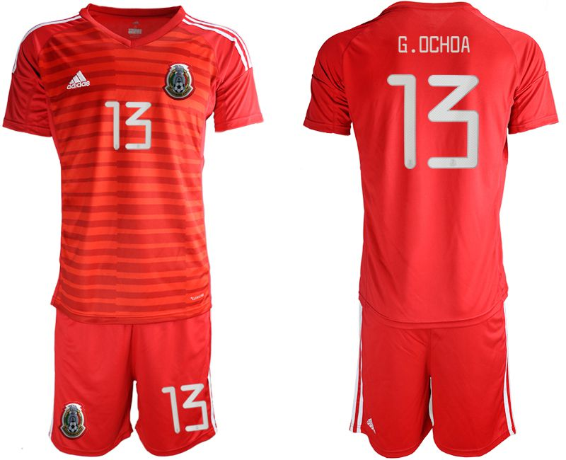Men 2019-2020 Season National Team Mexico red goalkeeper 13 Soccer Jerseys