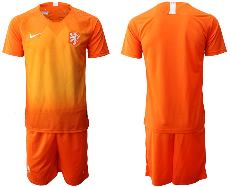 Men 2019-2020 Season National Team Netherlands home orange Soccer Jerseys
