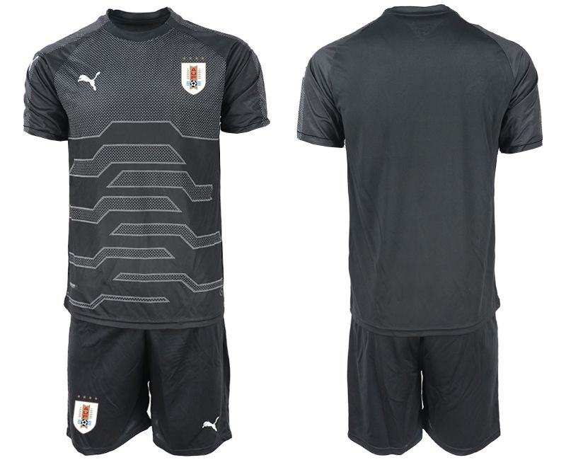 Men 2019-2020 Season National Team Uruguay black goalkeeper Soccer Jerseys