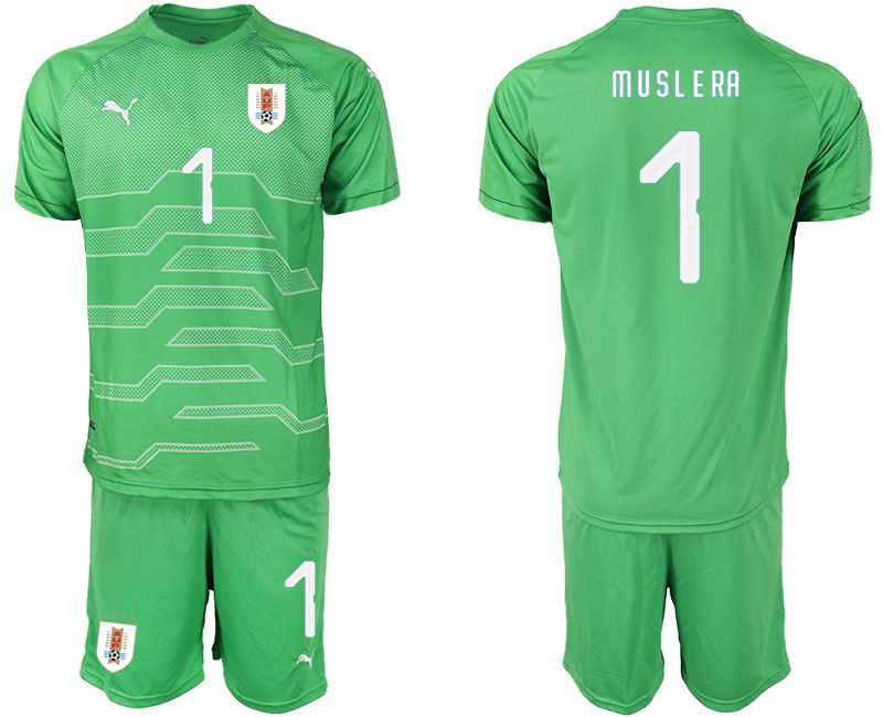 Men 2019-2020 Season National Team Uruguay green goalkeeper 1 Soccer Jerseys
