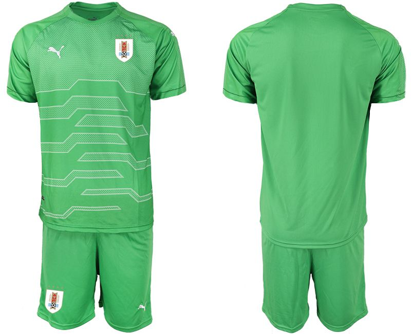 Men 2019-2020 Season National Team Uruguay green goalkeeper Soccer Jerseys