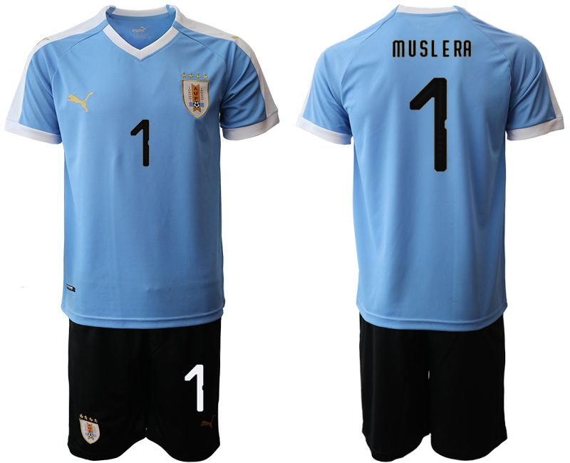 Men 2019-2020 Season National Team Uruguay home 1 blue Soccer Jerseys