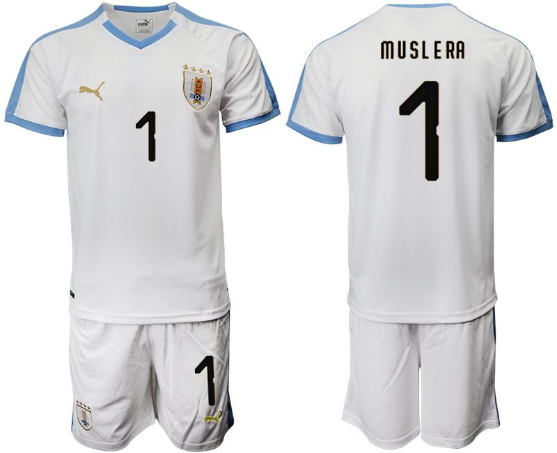 Men 2019-2020 Season National Team Uruguay home 1 white Soccer Jerseys