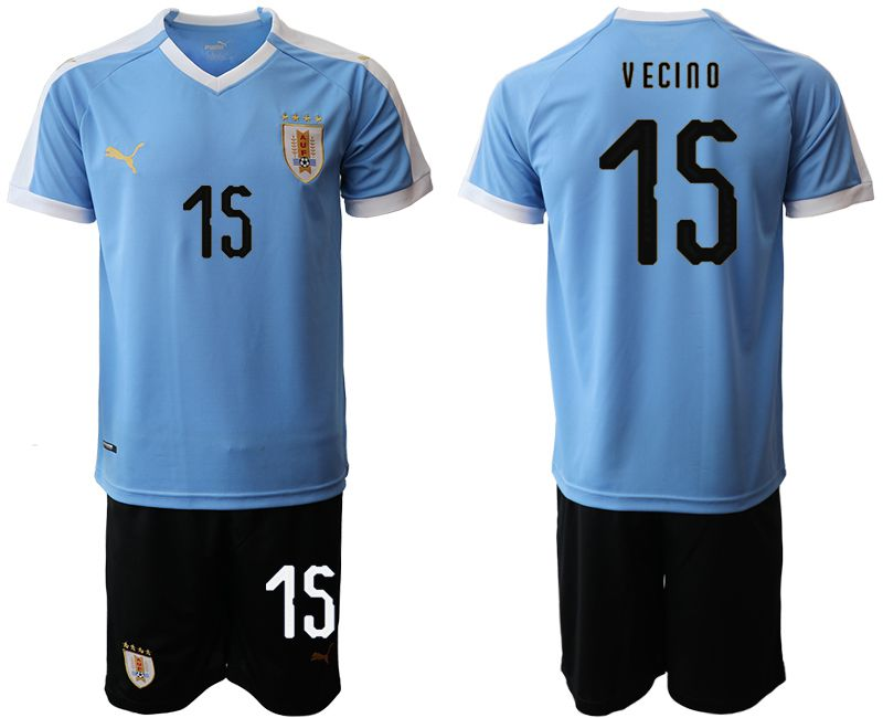 Men 2019-2020 Season National Team Uruguay home 15 blue Soccer Jerseys