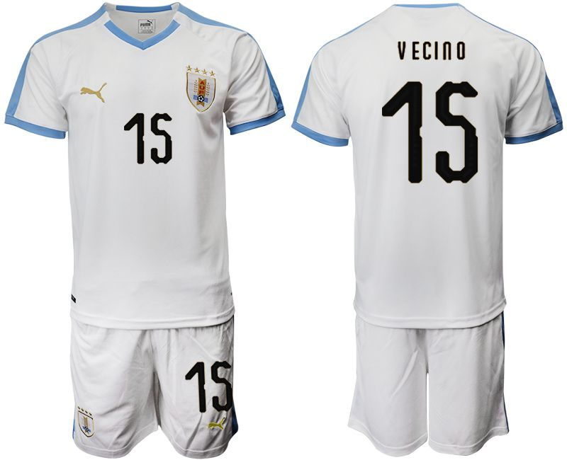 Men 2019-2020 Season National Team Uruguay home 15 white Soccer Jerseys