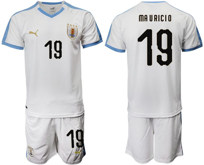 Men 2019-2020 Season National Team Uruguay home 19 white Soccer Jerseys