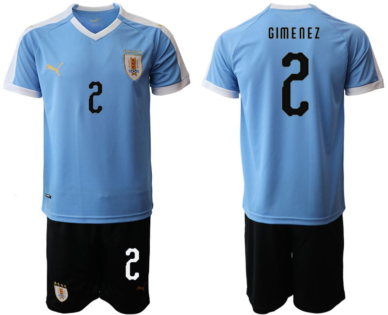Men 2019-2020 Season National Team Uruguay home 2 blue Soccer Jerseys