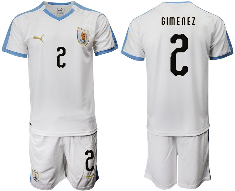 Men 2019-2020 Season National Team Uruguay home 2 white Soccer Jerseys