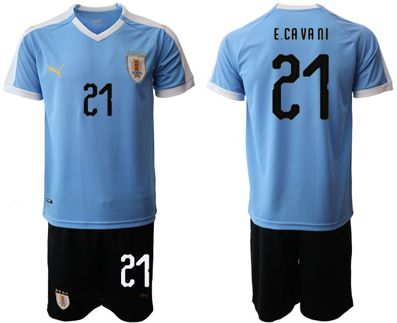 Men 2019-2020 Season National Team Uruguay home 21 blue Soccer Jerseys