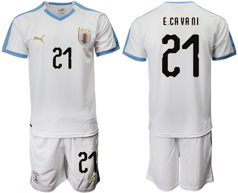 Men 2019-2020 Season National Team Uruguay home 21 white Soccer Jerseys