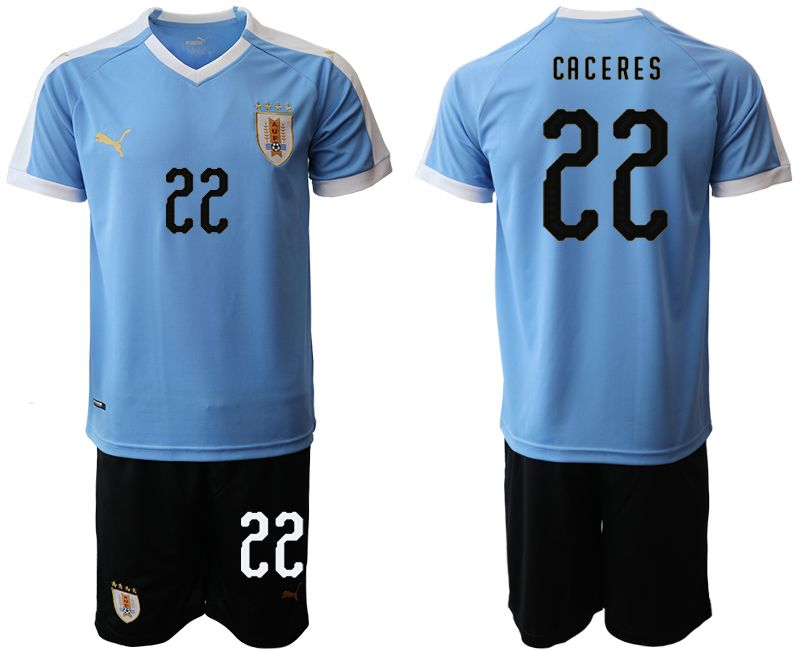 Men 2019-2020 Season National Team Uruguay home 22 blue Soccer Jerseys