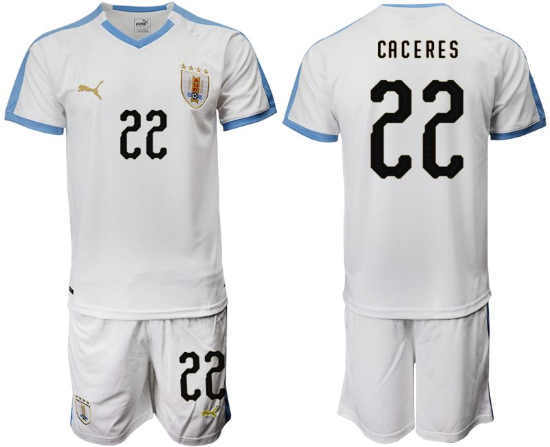 Men 2019-2020 Season National Team Uruguay home 22 white Soccer Jerseys