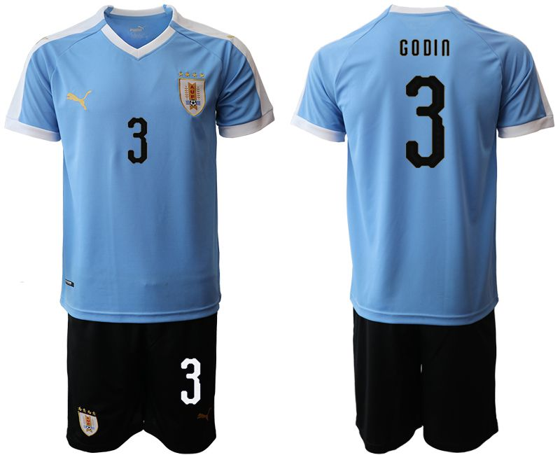 Men 2019-2020 Season National Team Uruguay home 3 blue Soccer Jerseys