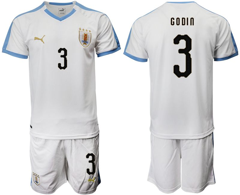 Men 2019-2020 Season National Team Uruguay home 3 white Soccer Jerseys