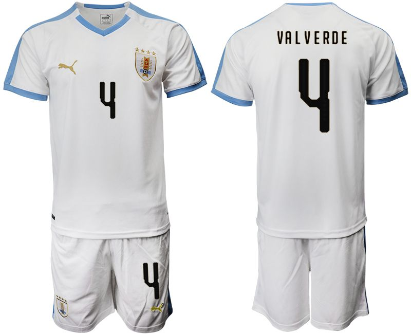 Men 2019-2020 Season National Team Uruguay home 4 white Soccer Jerseys