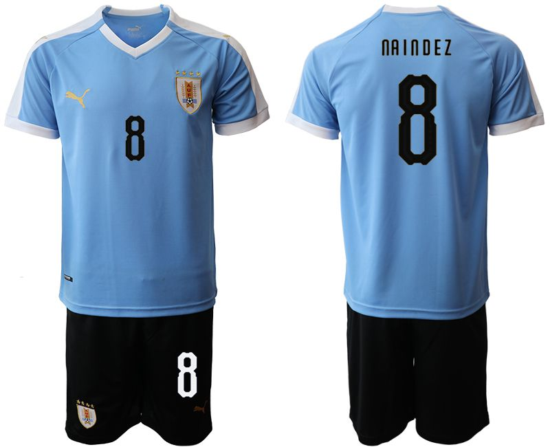 Men 2019-2020 Season National Team Uruguay home 8 blue Soccer Jerseys