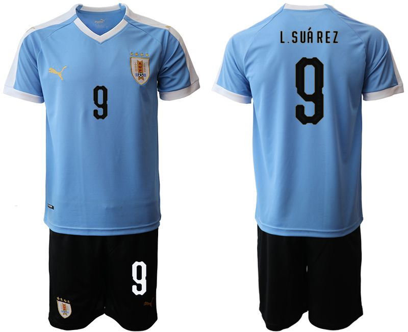 Men 2019-2020 Season National Team Uruguay home 9 blue Soccer Jerseys1