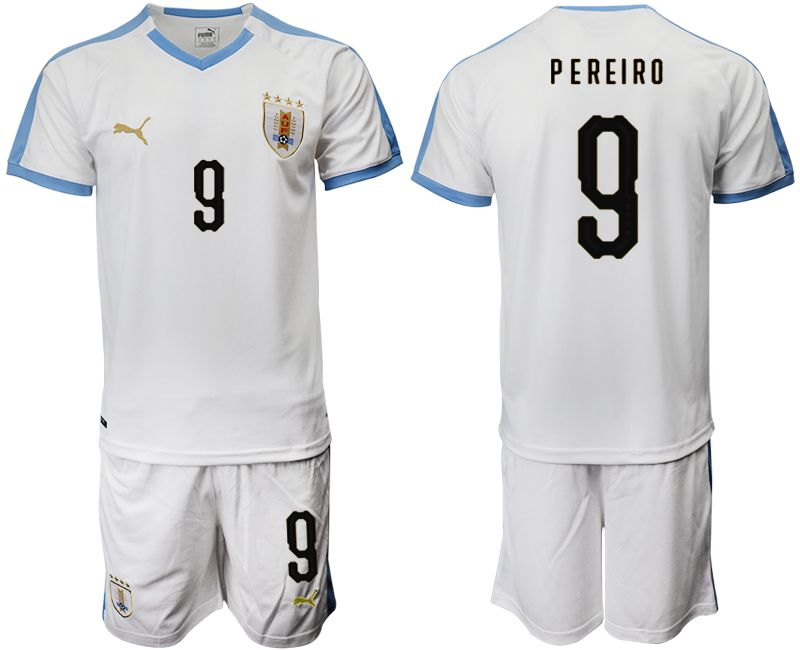Men 2019-2020 Season National Team Uruguay home 9 white Soccer Jerseys
