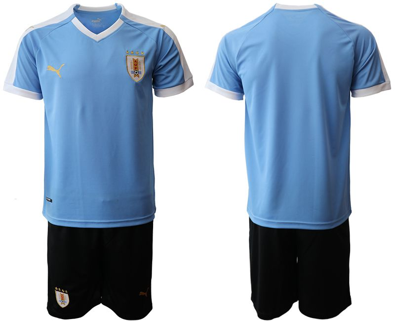 Men 2019-2020 Season National Team Uruguay home blue Soccer Jerseys