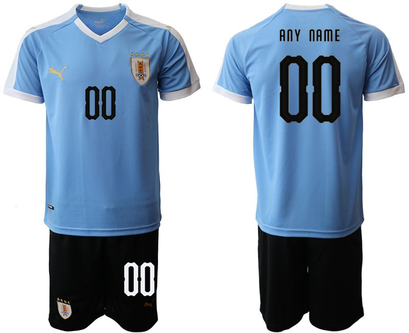 Men 2019-2020 Season National Team Uruguay home customized blue Soccer Jerseys