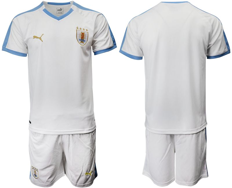 Men 2019-2020 Season National Team Uruguay home white Soccer Jerseys
