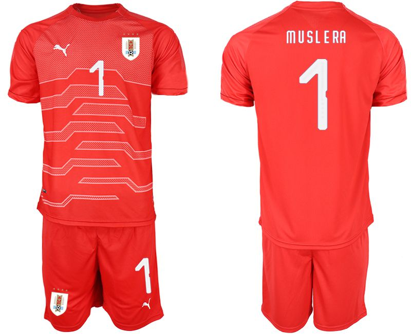 Men 2019-2020 Season National Team Uruguay red goalkeeper 1 Soccer Jerseys