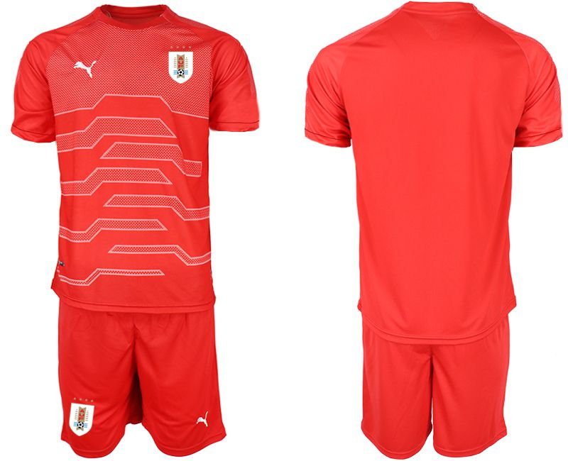Men 2019-2020 Season National Team Uruguay red goalkeeper Soccer Jerseys