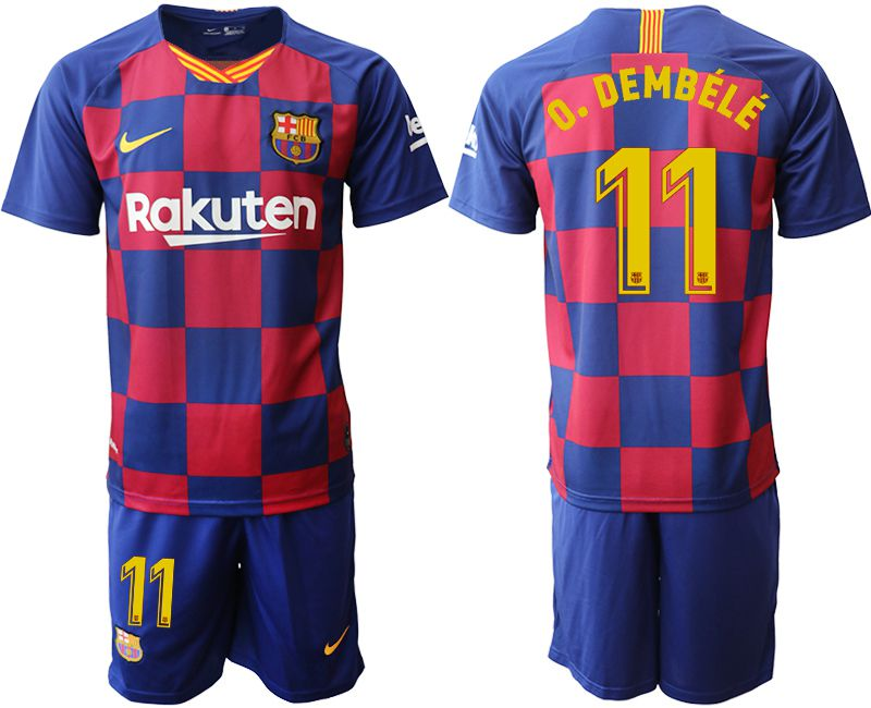 Men 2019-2020 club Barcelona home 11 blue Soccer Jerseys