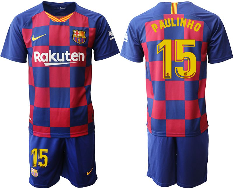 Men 2019-2020 club Barcelona home 15 blue Soccer Jerseys