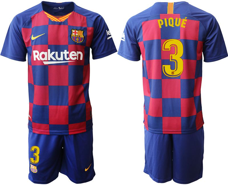 Men 2019-2020 club Barcelona home 3 blue Soccer Jerseys