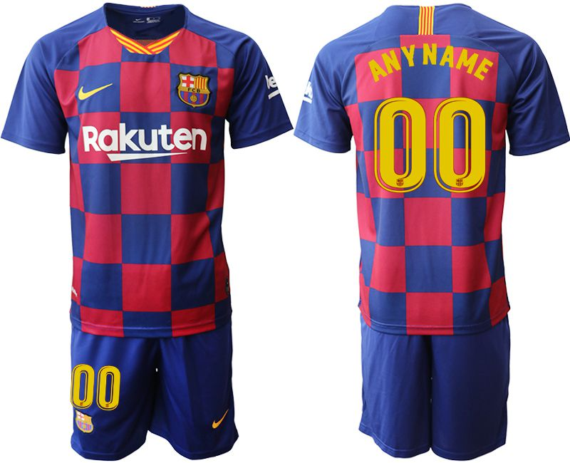 Men 2019-2020 club Barcelona home customized blue Soccer Jerseys
