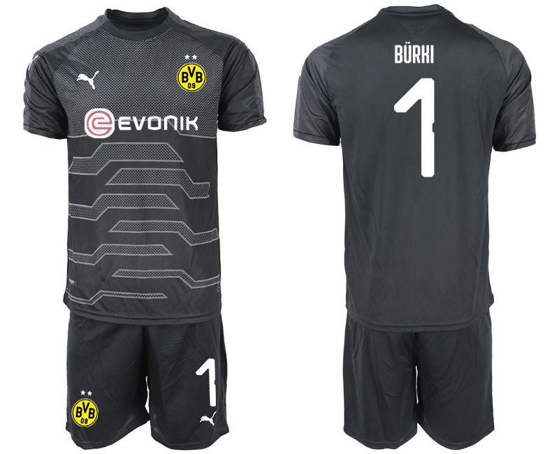 Men 2019-2020 club Dortmund black goalkeeper 1 Soccer Jerseys