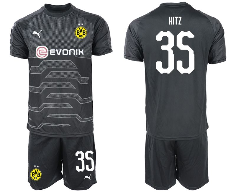 Men 2019-2020 club Dortmund black goalkeeper 35 Soccer Jerseys