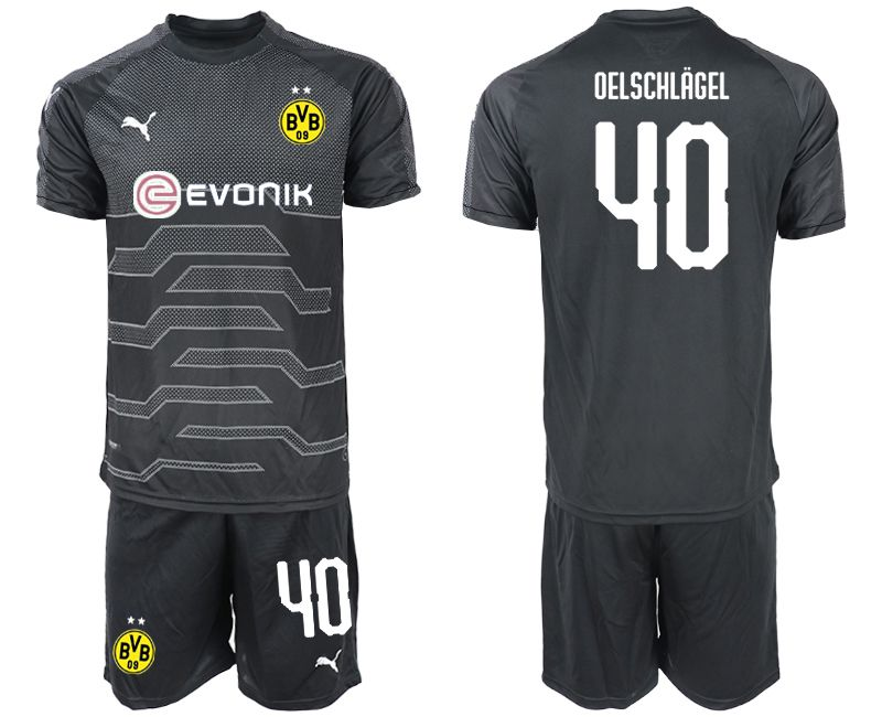 Men 2019-2020 club Dortmund black goalkeeper 40 Soccer Jerseys
