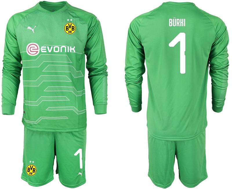 Men 2019-2020 club Dortmund green goalkeeper 1 Soccer Jerseys