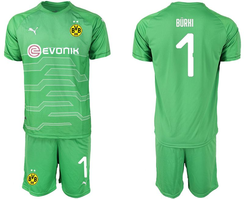 Men 2019-2020 club Dortmund green goalkeeper 1 Soccer Jerseys1
