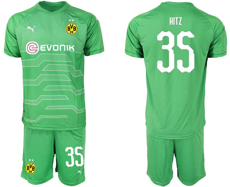 Men 2019-2020 club Dortmund green goalkeeper 35 Soccer Jerseys