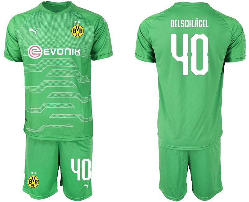 Men 2019-2020 club Dortmund green goalkeeper 40 Soccer Jerseys