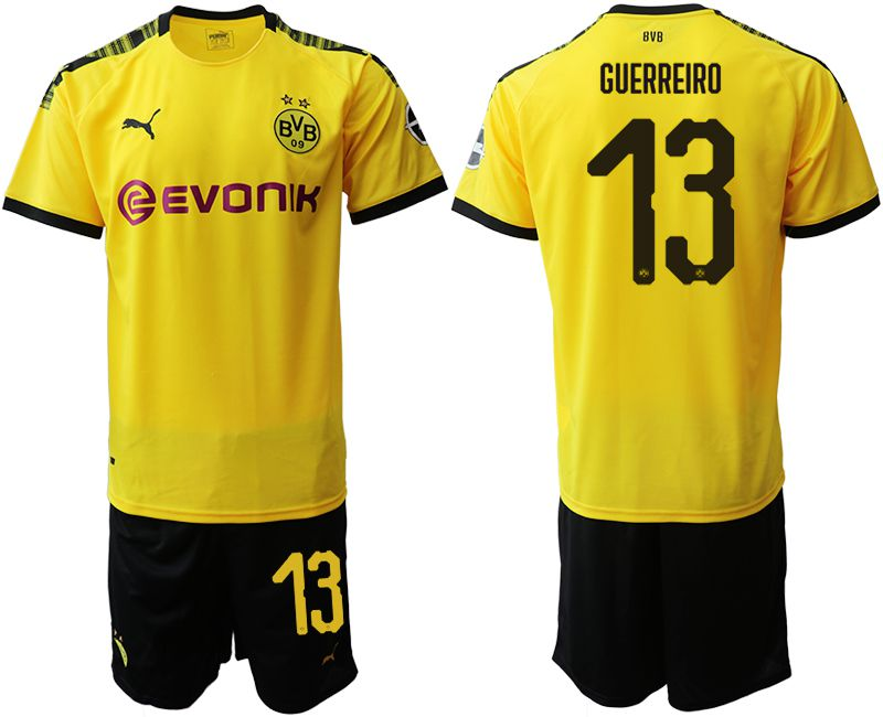 Men 2019-2020 club Dortmund home 13 yellow Soccer Jerseys
