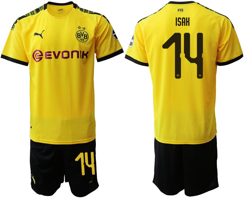Men 2019-2020 club Dortmund home 14 yellow Soccer Jerseys