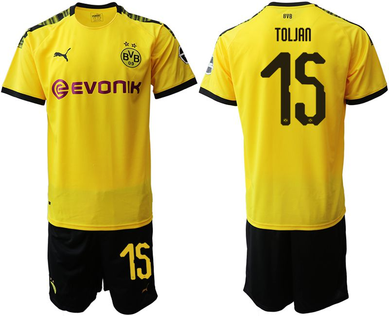 Men 2019-2020 club Dortmund home 15 yellow Soccer Jerseys