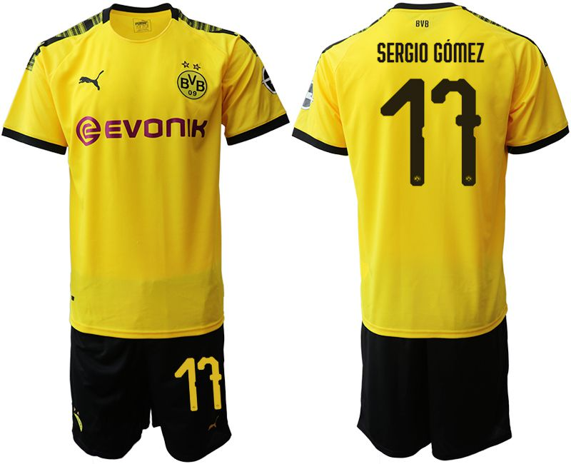 Men 2019-2020 club Dortmund home 17 yellow Soccer Jerseys