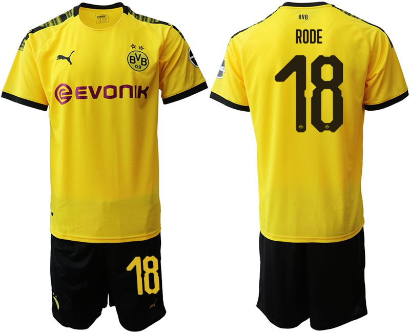 Men 2019-2020 club Dortmund home 18 yellow Soccer Jerseys