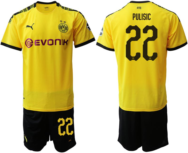 Men 2019-2020 club Dortmund home 22 yellow Soccer Jerseys