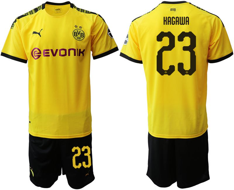 Men 2019-2020 club Dortmund home 23 yellow Soccer Jerseys