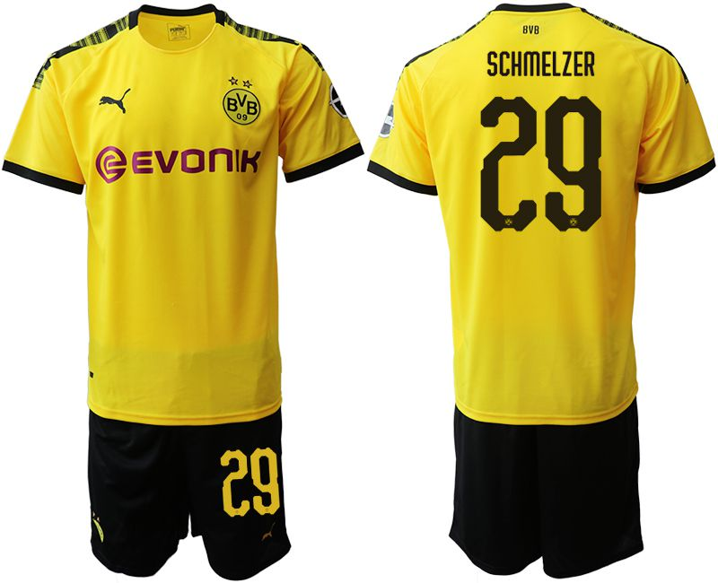 Men 2019-2020 club Dortmund home 29 yellow Soccer Jerseys
